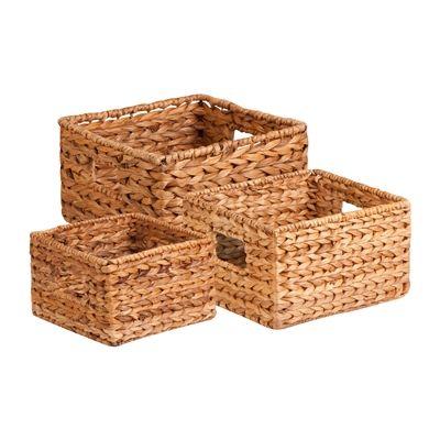 Honey Can Do STO-02882 Nesting Water Hyacinth Basket Set