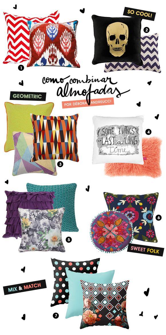 Como combinar almofadas | Achados da Bia - http://www.achadosdabia.com.br/2012/11/26/combinando-almofadas/