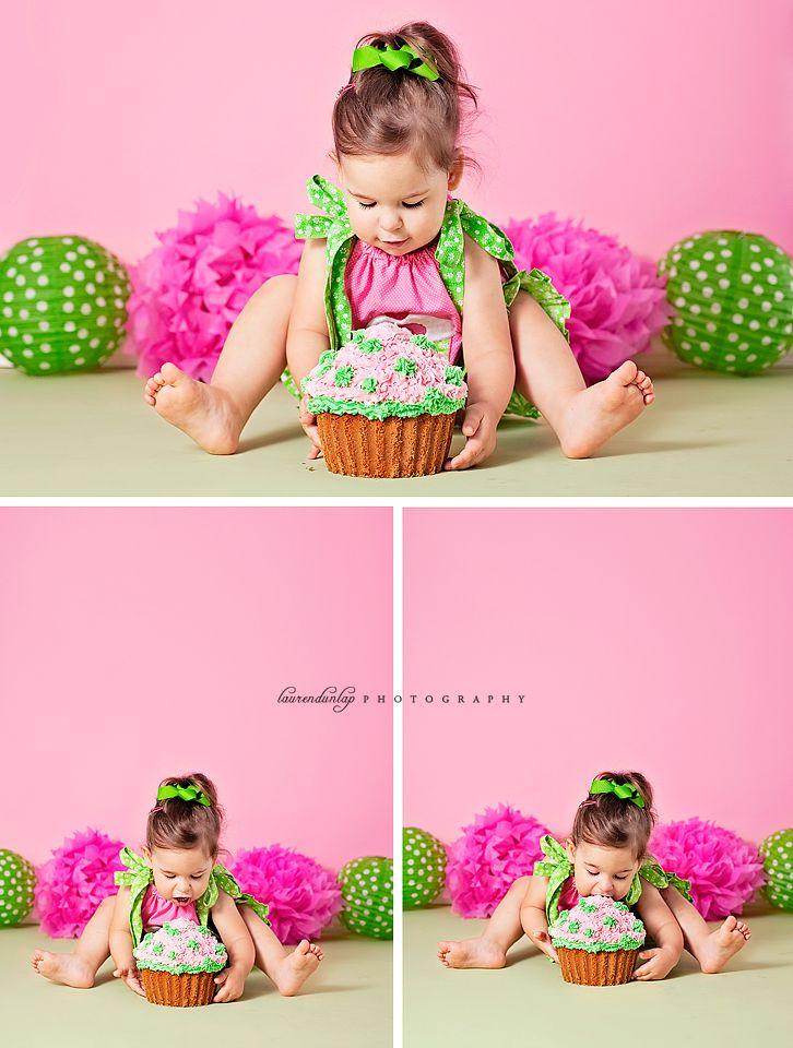 Pink And Yellow Cake Smash