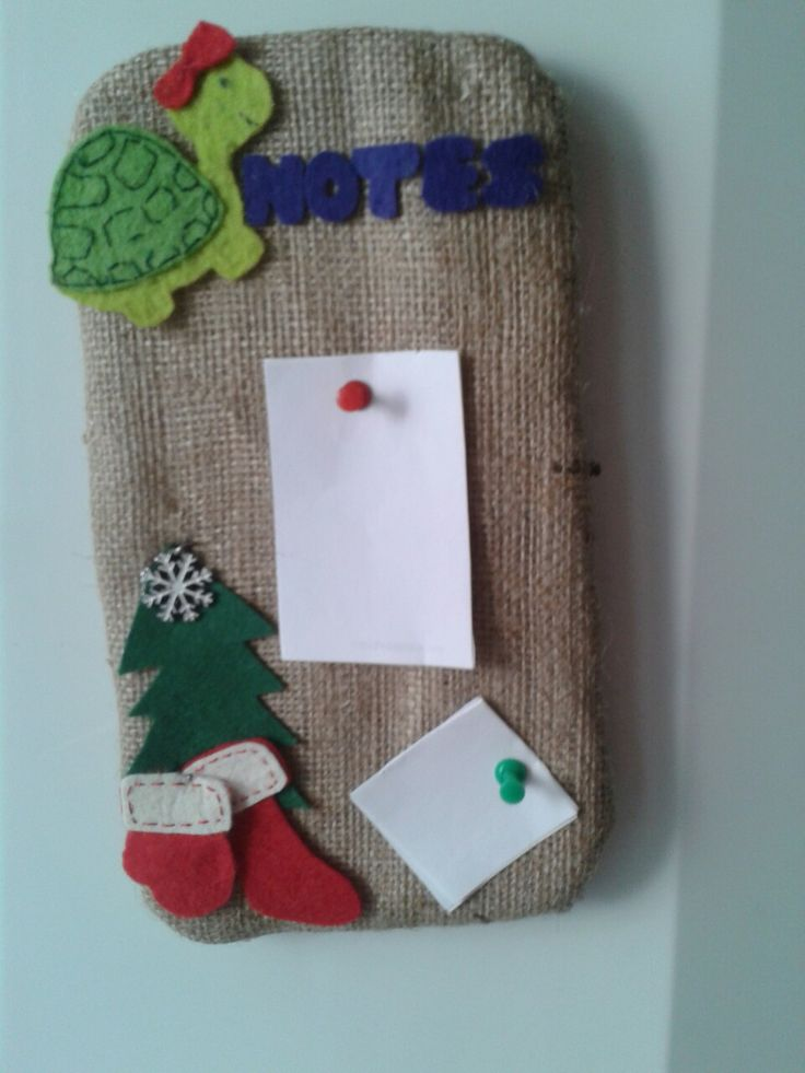 Felt note card holder