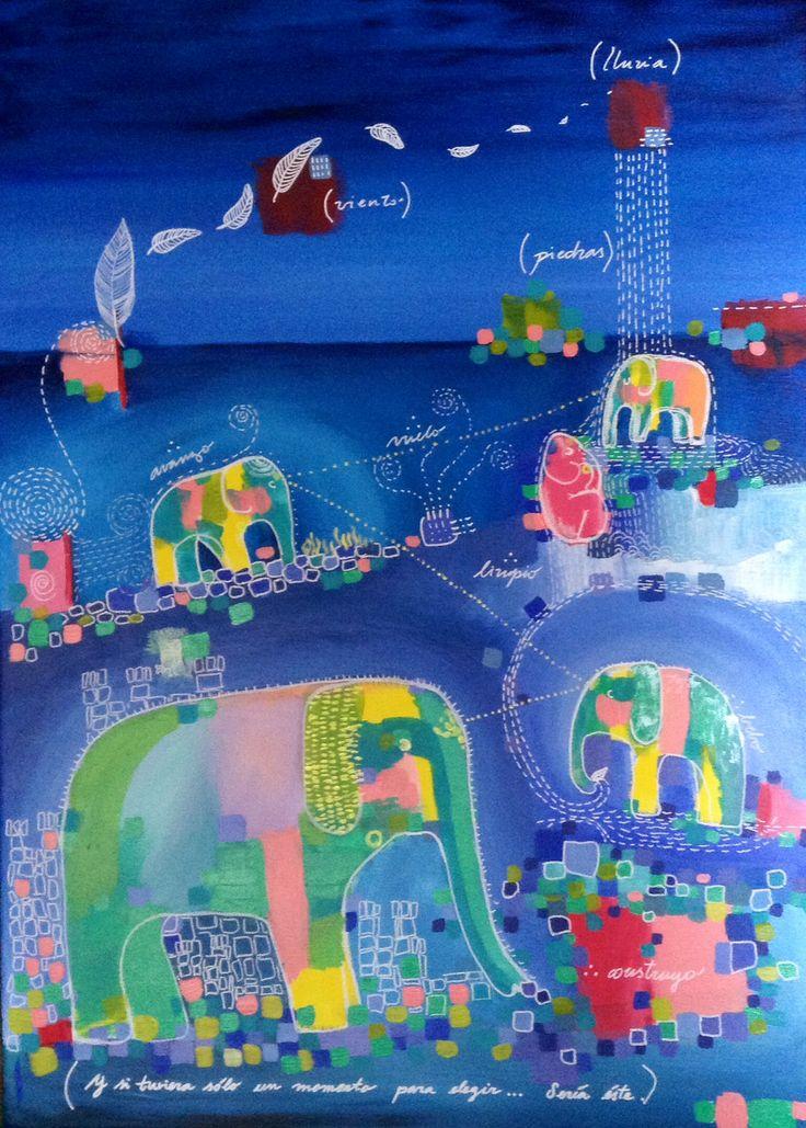 """""""Transmutación"""" ANDREA MUGA Acrylic on canvas Www.facebook.com/andreamugaart #art #surrealism"""