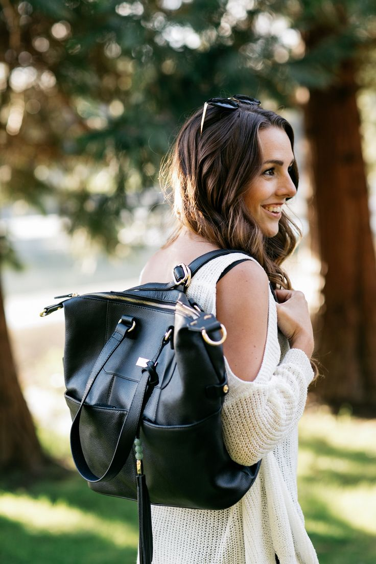 It's all about the bag. Seriously. The Shaylee from Lily Jade is all you could ever want. Big enough to store what you need, compact enough not to be too bulky. Can be worn as a backpack, on the shoulder or crossbody. Features easy-to-access outer pockets and over 16 pockets (!!) inside to keep you perfectly organized.