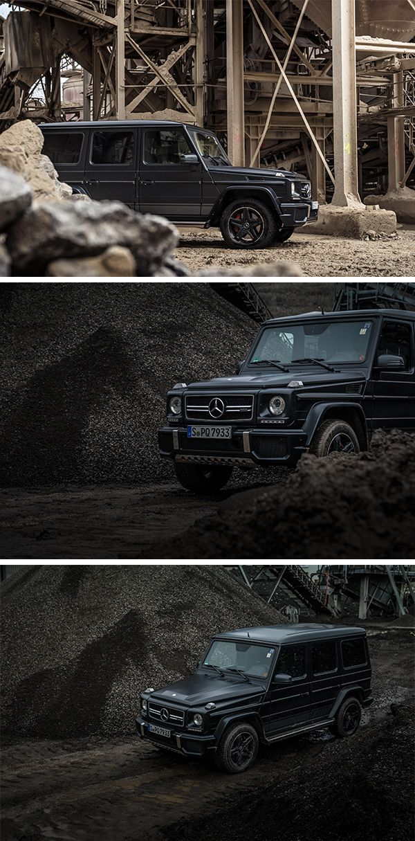 A classic Mercedes-Benz off-roader: The Mercedes-AMG G 63.  Photo by Frederic Seemann for #MBsocialcar [Mercedes-AMG G 63 | Fuel consumption combined: 13.8 l/100km | combined CO₂ emissions: 322 g/km | http://mb4.me/efficiency_statement]
