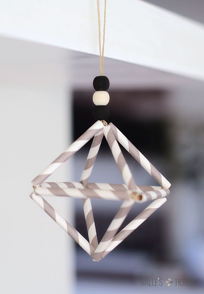 DIY HIMMELI CHRISTMAS ORNAMENT- traditional finnish ornament with a modern twist- black and white, grey and white