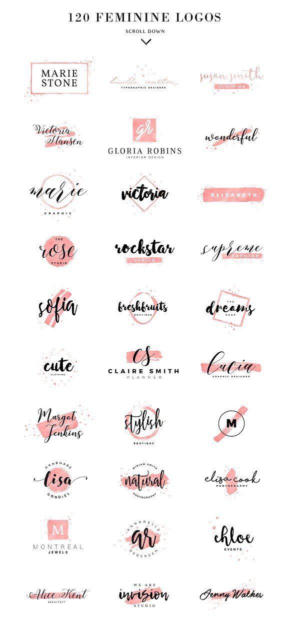 2498830 feminine logo set