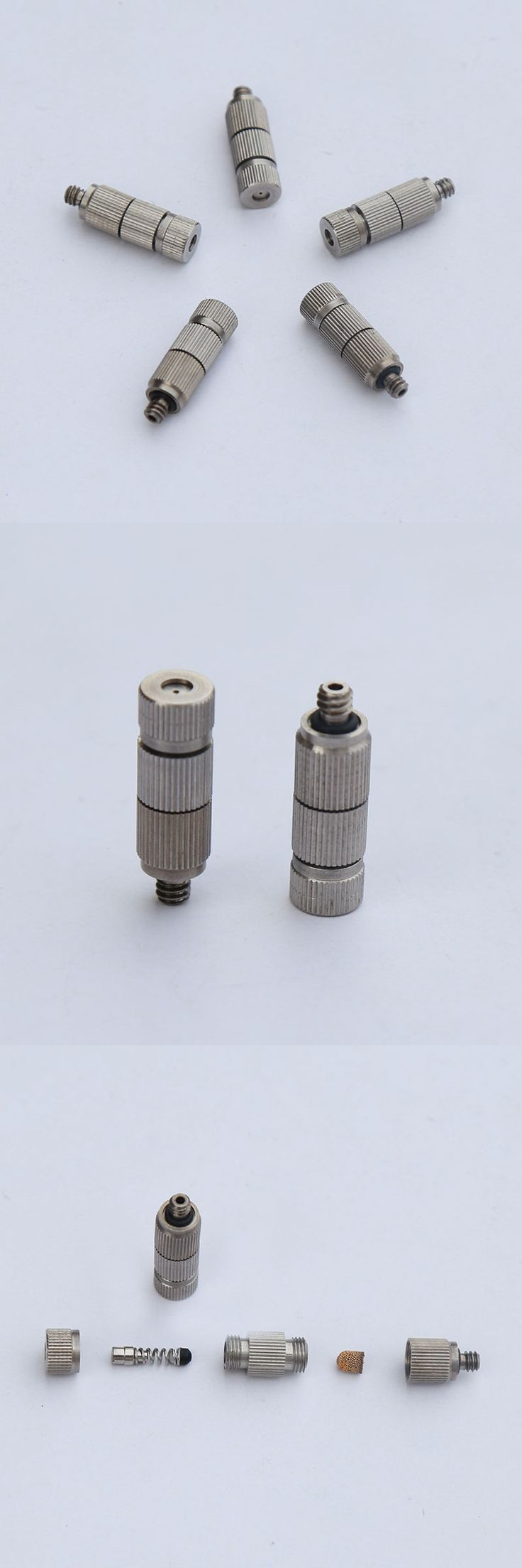 """Three-stage 3/16""""304 stainless steel high pressure fog misting nozzle , humidification and cooling and outdoor,( 20 pcs/lot )"""