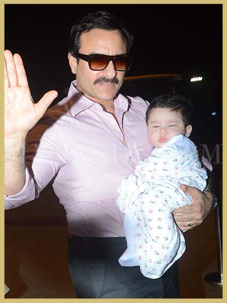 Kareena Kapoor Khan, Saif Ali Khan, Taimur Ali Khan, Airport Style, MyFashgram