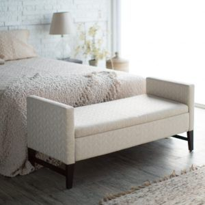 Gray Storage Bench For Bedroom