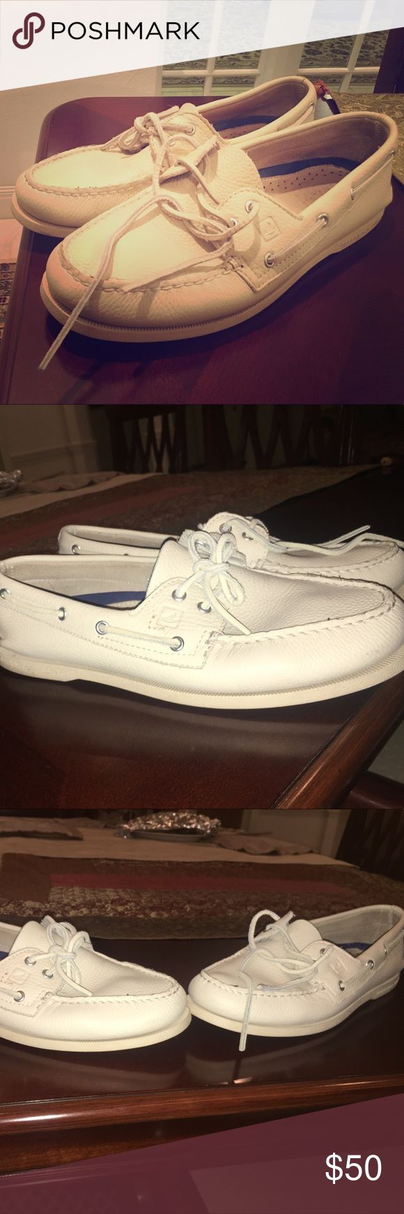 Sperry topsider Men's Boat shoes all white Size 11.5 sperry topsider white boat shoes. Sperry Top-Sider Shoes Boat Shoes