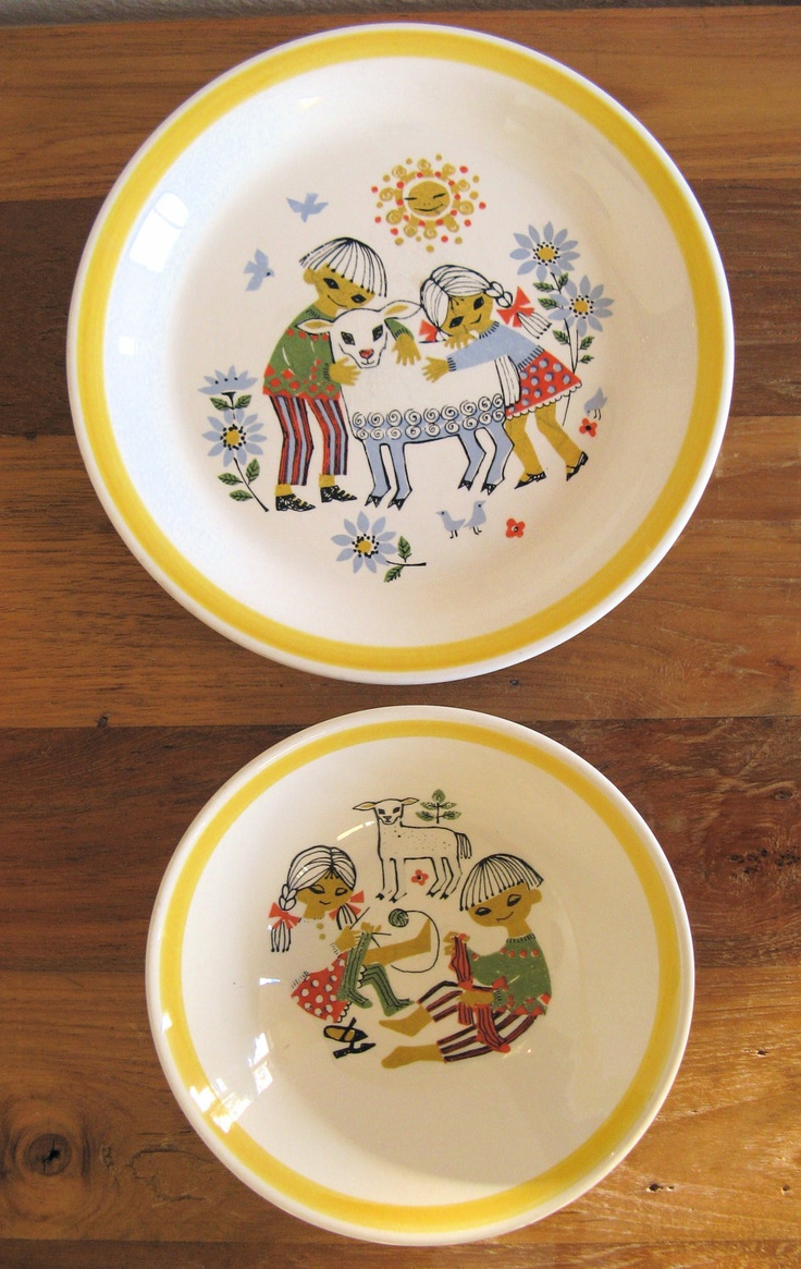 Stavangerflint Norway Children's Bowl and Plate by MarketHome