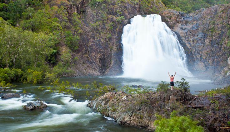 Bloomfield Falls, near the Cape Tribulation area of Daintree National Park #waterfall #nationalpark
