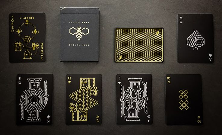 Deck View: Killer Bee Playing Cards | Kardify : Playing Cards News