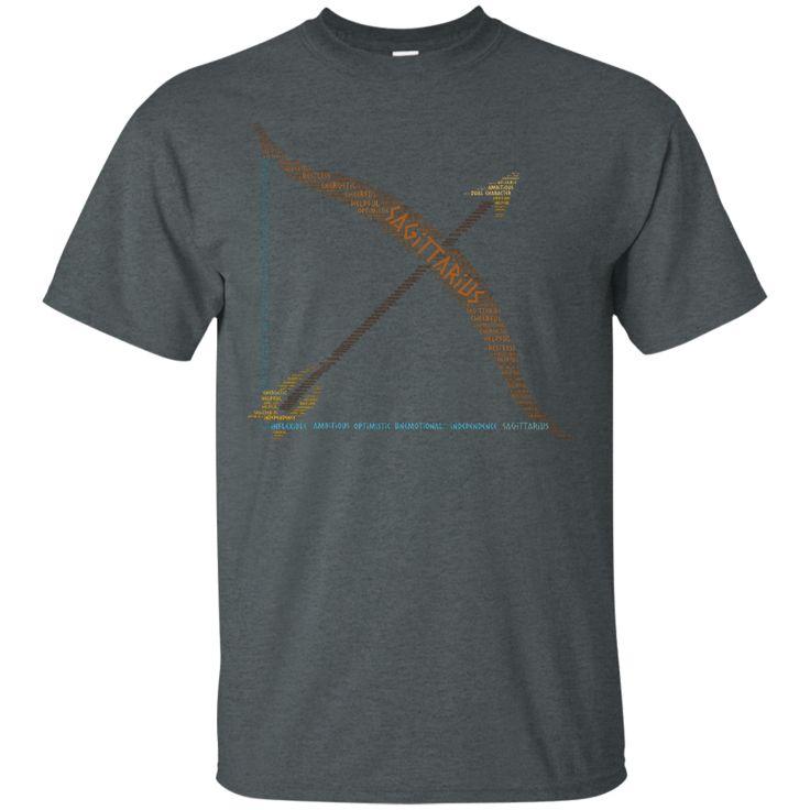 Unisex Zodiac Sagittarius Horoscope Birth Sign Word Cloud Relaxed T-Shirt