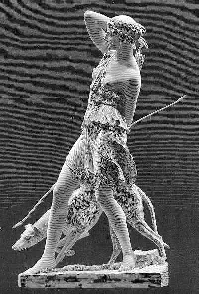 Artemis, the daughter of Zeus and Leto and the twin sister to Apollo | Sculpture | Pinterest