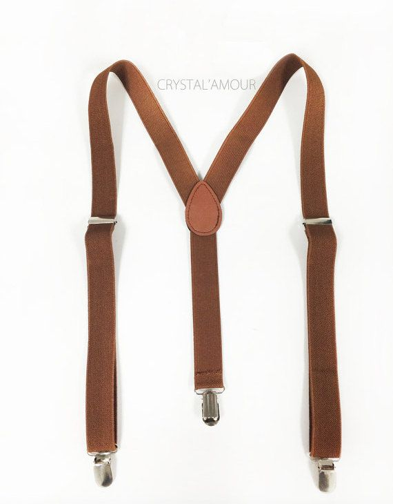 Men's Suspenders  brown suspenders  for children 6 by crystalAmour, $12.95