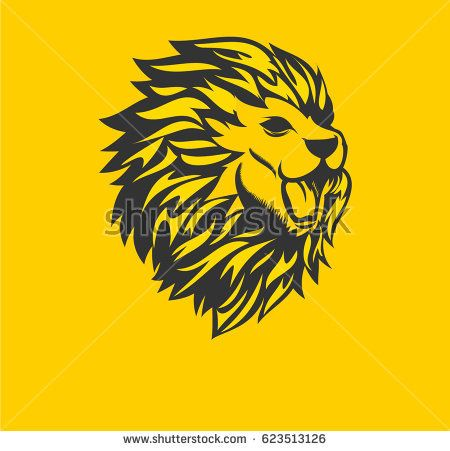 Lion head - vector logo.