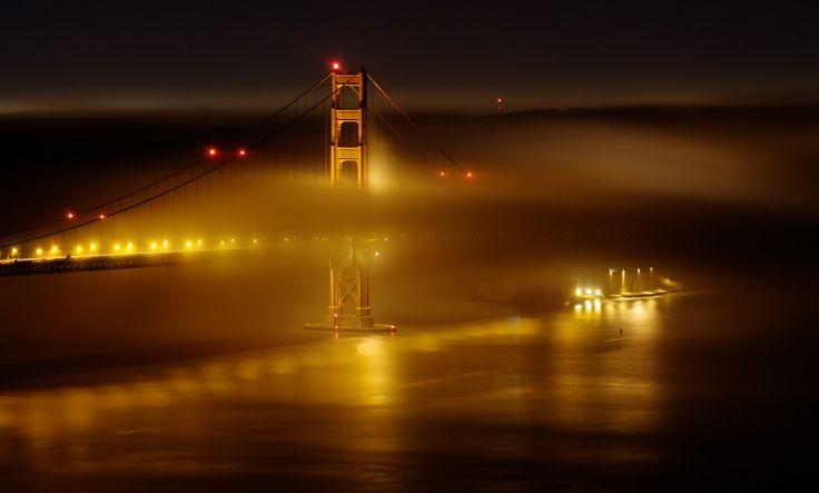 """Мост """"Золотые ворота"""", Сан-Франциско, США."""