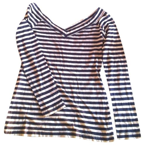 Striped shirt by Moschino Jeans. White and Blue