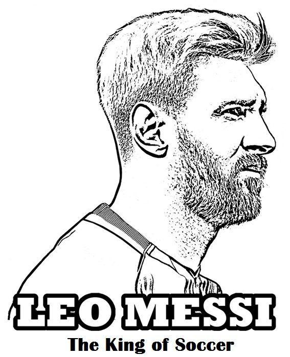 Kleurplaten Voetbal Messi.Pin Van Christine Coenen Op Arvid Kleurplaten Lionel Messi Messi