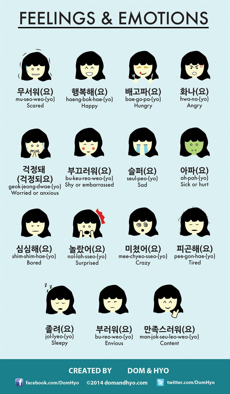 Infographic: Feelings and Emotions in Korean