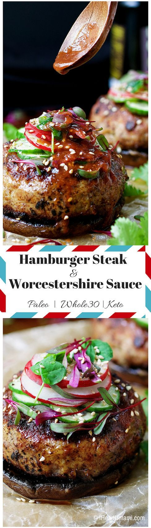 Low Carb Worcestershire Sauce Hamburger Steak. Paleo/Whole30/Keto Worcestershire sauce with Japanese-style Hamburger steak. Easy, tasty, juicy hamburger with no added sugar Worcestershire sauce. No pork would use all beef.:
