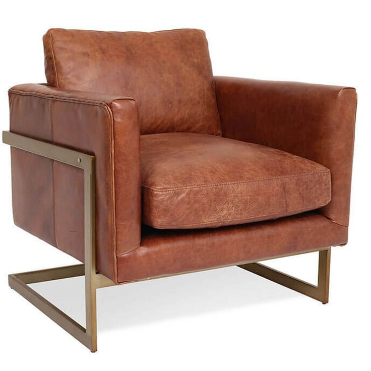 Best London Modern Cognac Leather Club Chair In 2020 Accent 400 x 300