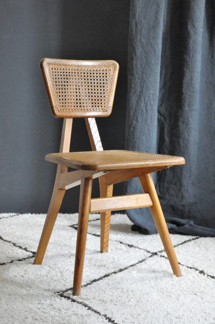 Chaise cannée Roset / Roset weaved cane chair