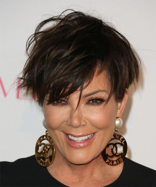 Kris Jenner Short Straight Hairstyle. Try on this hairstyle and view styling steps! http://www.thehairstyler.com/hairstyles/casual/short/straight/Kris-Jenner-jagged-short-wispy-hairstyle