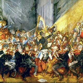 Max Oppenheimer,  Gustav Mahler y la Filarmonica de Viena