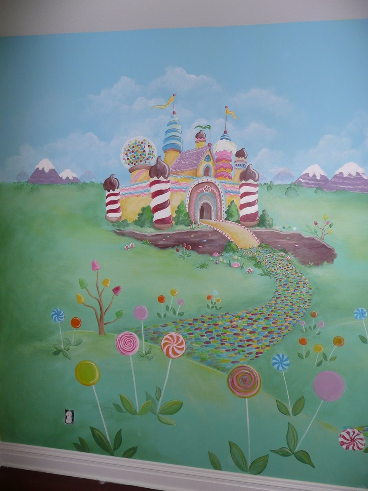 1000 images about aubrey 39 s candyland nursery on pinterest for Candyland wall mural