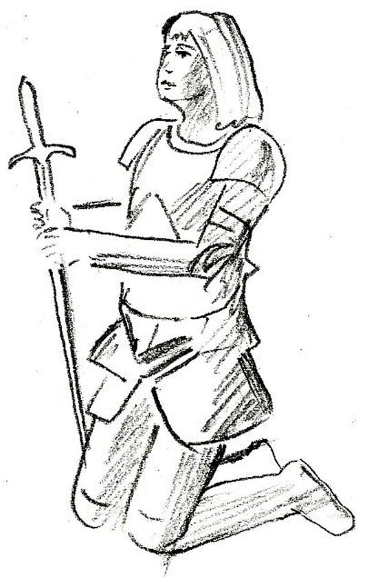 How to Draw Joan of Arc: 10 Steps (with Pictures