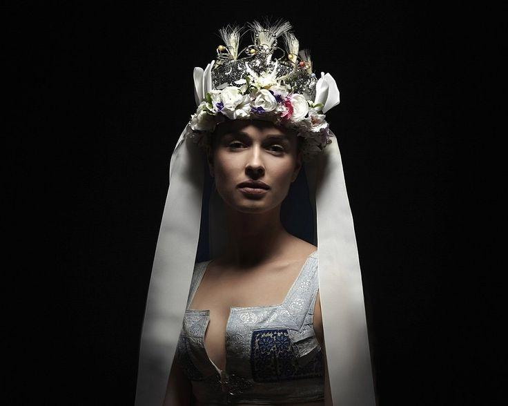 Slovak Renaissance - photo-project by Slovak photographer PETRA LAJDOVÁ documenting traditional Slovak headdresses. Parta, Detva. © Petra Lajdová