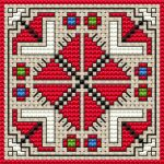 Biscornu pattern Bulgarian folk motif cross stitch pattern.Suitable for biscornu making. • Published last month • 39×39 stitches • 5 colors