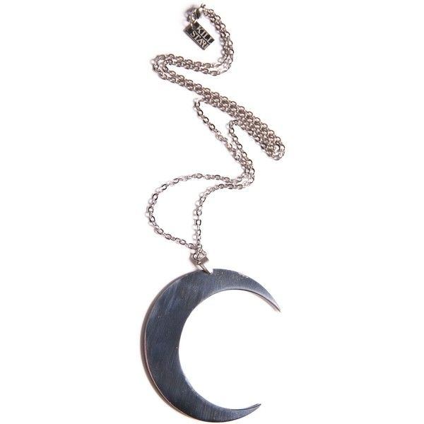 Kill Star Luna Necklace found on Polyvore featuring jewelry, necklaces, accessories, pendants & necklaces, stainless steel pendant necklace, long necklace, stainless steel jewelry and chain jewelry