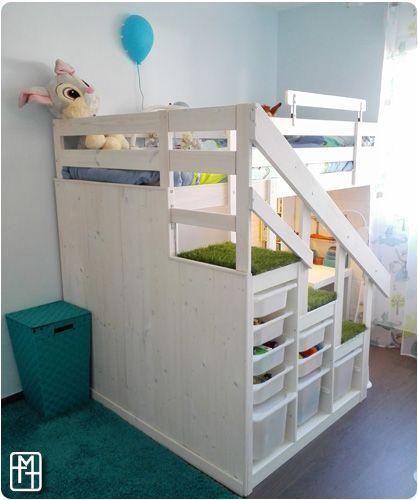 Bist du ein Fan von DIY oder Ikea-Hacking? Ich machte ein Hüttenbett für meine