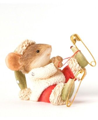 Heart of Christmas Mice by Karen Hahn for Enesco at Fiddlesticks