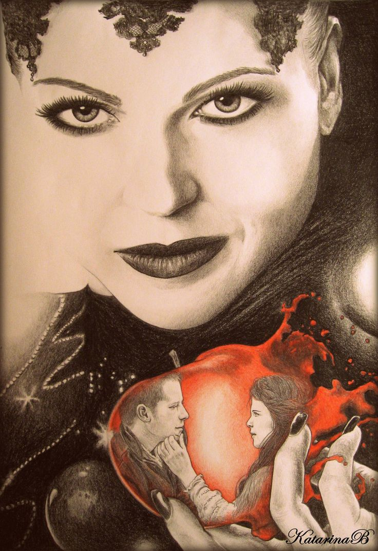 Evil Queen Regina by KatBjorky on deviantART ~ Prince Charming & Snow White too ~ Once Upon a Time tv series