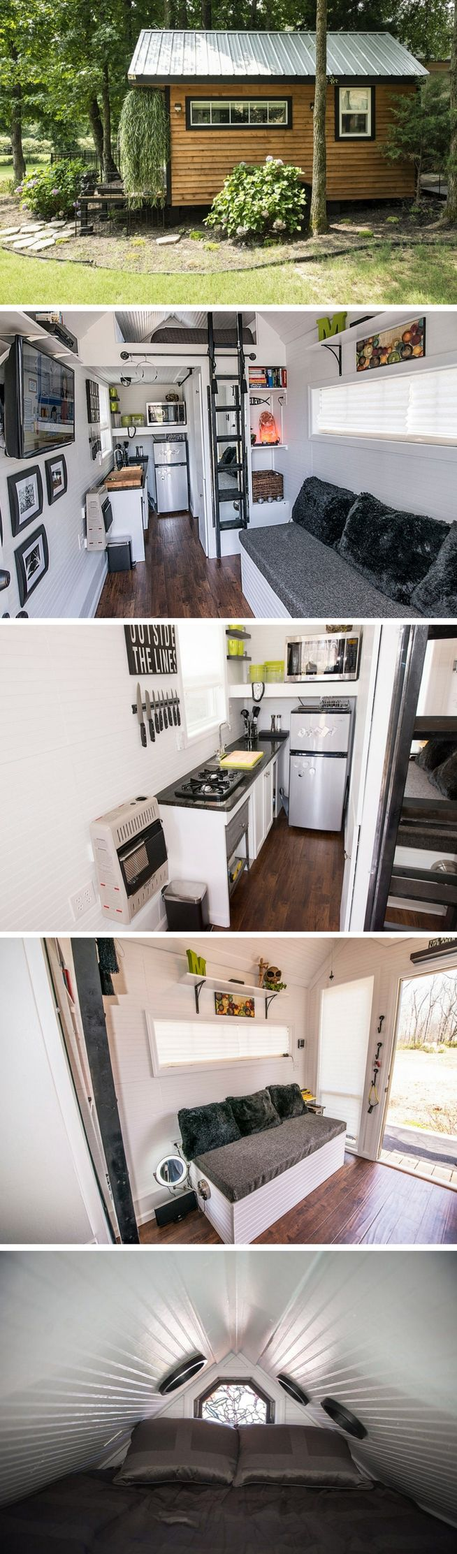 Mendy's Tiny Home, a tiny house on wheels measuring just 128 sq ft
