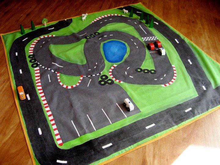 Racing Track Play Mat - www.facebook.com/OneSpottyDog
