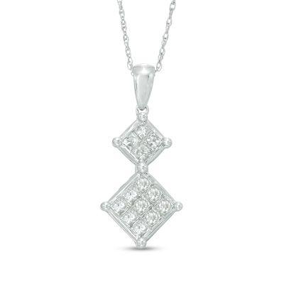 Zales 1/10 CT. T.w. Diamond Pineapple Pendant in 10K Gold agNGxrz