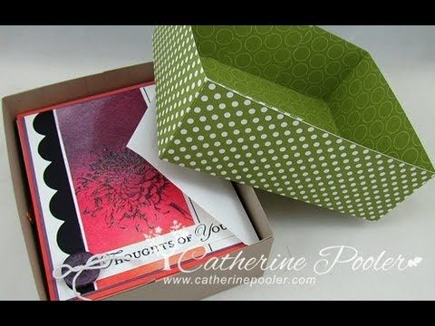 1/16 Rule of Box Making - Make a Card Box for gift giving - http://catherinepooler.com/2013/05/how-to-make-a-box-to-put-cards-in-116-rule-of-box-making/