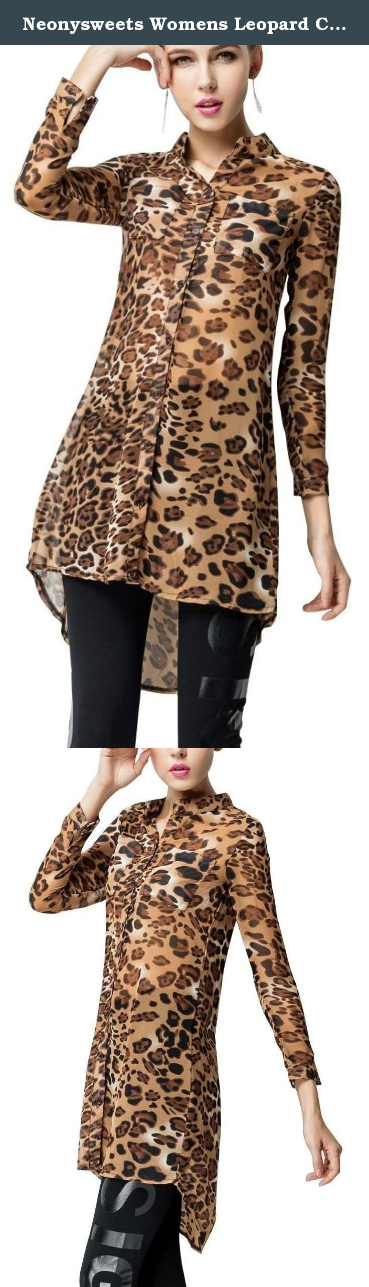 Neonysweets Womens Leopard Chiffon Shirts Long Sleeve Blouses Tops Casual XL. Welcome to Neonysweets. We had all kinds of fashion clothings. And we promise all of them are in the good quality. If you aren't satisfied with it, we will give you a full 100% money back guarantee.