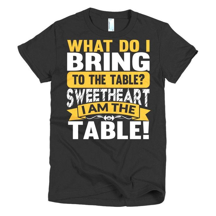 Short sleeve women's table t-shirt