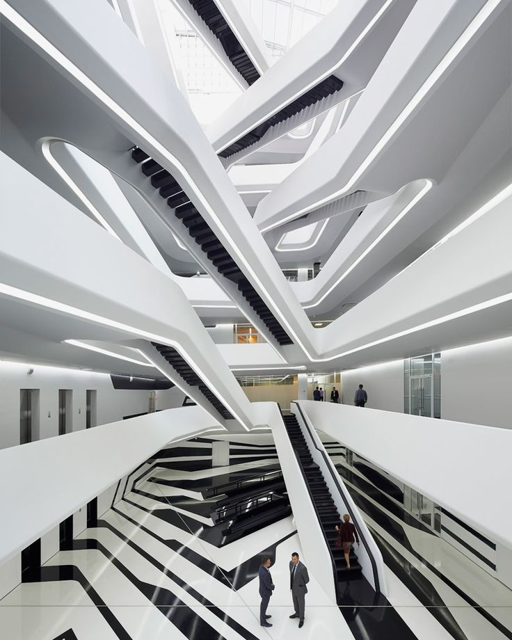 dominion office building in moscow by zaha hadid architects