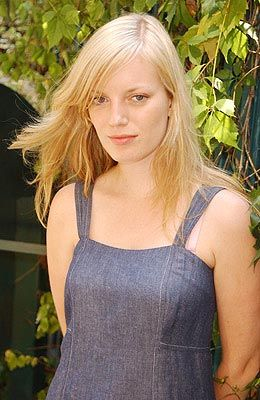 Sarah Polley, in a denim shift dress.  Yes, she is Canadian.