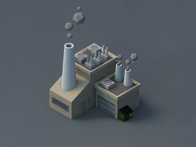 Low Poly Factory by William Peters