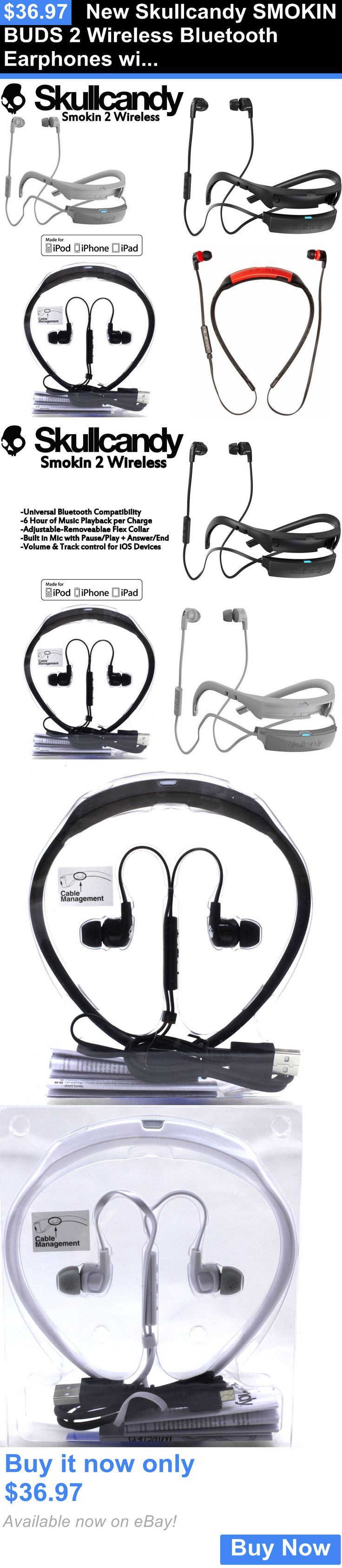 electronics: New Skullcandy Smokin Buds 2 Wireless Bluetooth Earphones With Mic Black White BUY IT NOW ONLY: $36.97