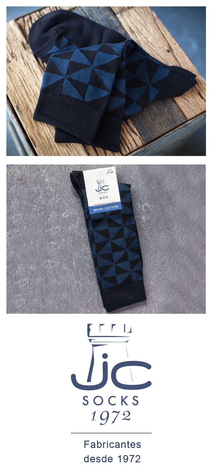 Calcetines hombre estilo vintage color azul. Fabricantes de calcetines desde 1972