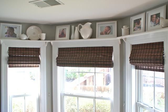 Hello Newman's!: kitchen shelves above windows
