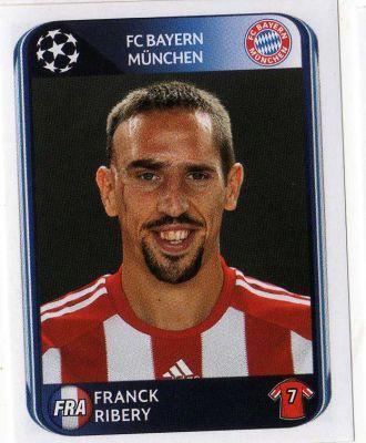 FC BAYERN MUNICH - Franck Ribery 288 PANINI UEFA Champions League 2010-2011 Football Sticker